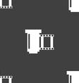 Negative films icon symbol Seamless pattern on a