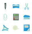 office equipment icons set cartoon style vector image vector image