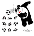 Panda Soccer Style vector image vector image