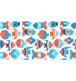 pattern with stylized fishes vector image vector image