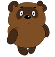 pooh winnie pooh bear toon vector image vector image