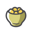 potatoes in a pot icon cartoon vector image
