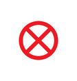 prohibition no symbol sign ban vector image