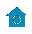 recycle house symbol vector image vector image