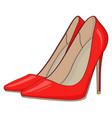 red stiletto heels vector image vector image
