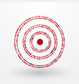 red target composed of small dots vector image vector image