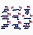 ribbons and american flag isolated vector image vector image