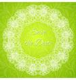 Round frame - vintage floral wreath vector image vector image