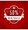 Sale Banner or Label Design vector image
