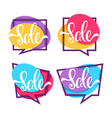 sale collection of bright discount bubble tags vector image