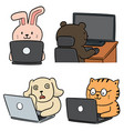 set animal office worker
