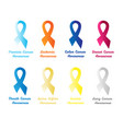 set awareness ribbons vector image vector image