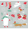 set christmas design elements vector image vector image