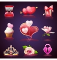 Set elements for Valentines Day vector image vector image