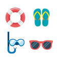 set float with flip-flop and snorkel masks with vector image