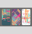set of background for mobile phone with flat vector image