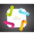 Set of colored ribbons in corner vector image vector image