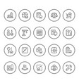 set round line icons real estate vector image vector image