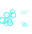 simple circles background with color blue light vector image