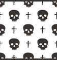 skull and cross symbol seamless pattern hand vector image vector image