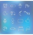 sleep outline icons vector image