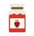 strawberry jam jar simple food icon in trendy vector image