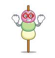 super hero dango character cartoon style vector image vector image