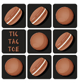 Tic-Tac-Toe of macaron vector image vector image