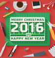 Trendy Flat Design Merry Christmas vector image vector image