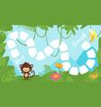 tropic jungle board game vector image vector image