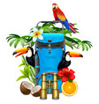 tropic travel concept vector image