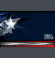 usa blue background vector image vector image