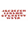 Watercolor hand drawn alphabet vector image vector image