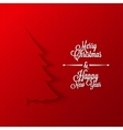 christmas tree paper background vector image
