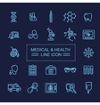 Thin lines web icon set - Medicine and Health vector image