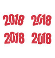 2018 logo sign of new year vector image