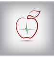 Apple logo vector image vector image