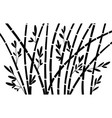 bamboo silhouette forest set nature japan china vector image vector image