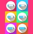battery icon on the color background vector image vector image