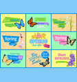 best spring big sale banners vector image