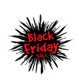 black friday in the form of a star drawn in the vector image