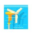 Boat Mator Underwater vector image