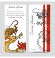 Brochure flyers template with chinese dragon vector image vector image