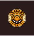 bulldog logo design ready to use vector image vector image