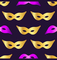 carnaval mask seamless pattern background vector image vector image