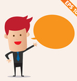 Cartoon business man with bubble - - EPS10 vector image vector image
