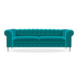 chesterfield sofa isolated comfortable couch seat vector image vector image