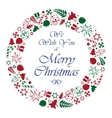 christmas circle background vector image vector image
