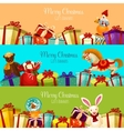 Christmas gift and toy banner set for xmas design vector image vector image