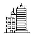 city buildings icon outline style vector image